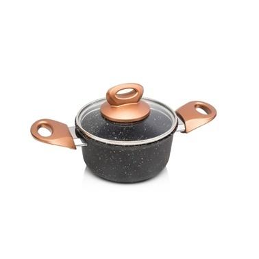 Depa Ews Granit Mat Siyah 12 Cm Mini Tencere Renkli